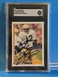 Ricky Waters 1991 Upper Deck Signed/auto - Sgc - Notre Dame Collection
