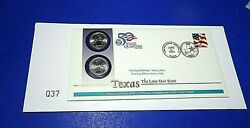 2004 Texas Pandd Official Us Mint Statehood Quarters Fdc Issue Sealed
