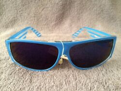 Vintage Blue Fashion Optics Cool Ray Sunglasses #1285M NWT $6.00