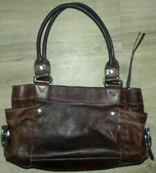 Nice Women#x27;s Medium Size Fossil ZB2132 Bag Brown Pebble Leather Satchel Purse $28.99