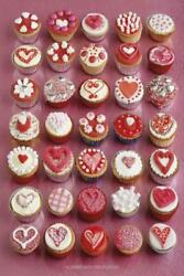 344716 Howard Shooter Made With Love Heart Decorated Cupcakes Collage Poster Ca
