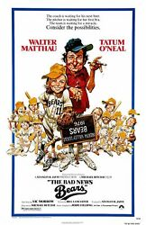 347029 The Bad News Bears Movie Walther Matthau Tatum Oand039neal Glossy Poster Ca