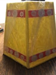 Handpainted Lamp Shade Parchment With Buttons