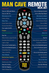 344823 Man Cave Remote Funny Glossy Poster Us