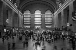 346366 Grand Central Station York City Nyc Bandw Photo Glossy Poster Us