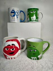 Collectibles Lot Of 4 Mars Mandm's Cups Red Santa, Blue, Green I Melt For Noone