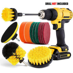 12 PCS Drill Brush Attachment SetPower Scrubber Cleaning Kit for Tile Kitchen