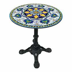 Cast Iron Volcanic Stone Top Bistro Table Or Dining Table.