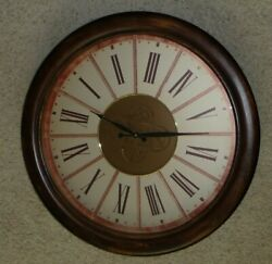 Rare Three Hands Corp Large Wall Clock, 28 Inches Vintage Style, 59194