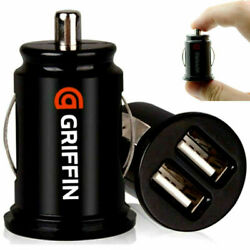 25pcs Griffin Dual Twin Usb In Car Charger Cigarette Lighter Adapter Cell Phone