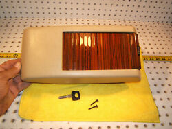Mercedes W126 Sel Se Sd Parchment Center Zebrano Cover 1 Console And Working 1 Key