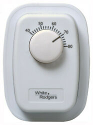 White Rodgers 1G65 641 Line Voltage Bimetal Wall Mechanical Thermostat