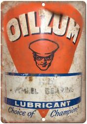 Oilzum Lubricant Porcelain Look Can 12 X 9 Reproduction Metal Sign U272