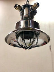 Original Large Reclaimedt Ships Explosion Proof Pendant Light With Shade Lot 10