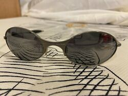 True Vintage Oakley Sunglasses Silver Metal Frame Lenses Used Great Condition $200.00