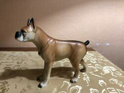 Boxer Dog Figurine Stamped Japan