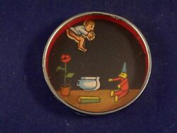 Vintage Toy Dexterity Game Puzzle Hand Held Baby On His Potty Puppet Germany