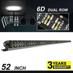 6d 52inch 1600w Led Light Bar Combo Offroad Driving Lamp For Jeep Ford Suv Boat