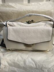 Rag amp; Bone #x27;Small#x27; Field Messenger Leather Bag in Antique White $399.00