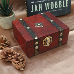Wooden Antique Storage Box Double Belt Small Wooden Jewelry Boxes For Women