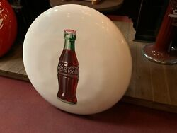 1950and039s Coca-cola Coke White 36 Porcelain Advertising Sign Watch Video