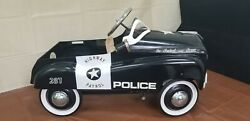 Vintage Police Highway Patrol Metal Pedal Car By Burns Novelty And Toy Co