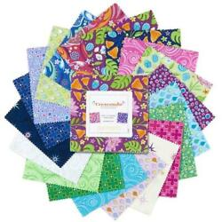 Crescendo 5 Inch Squares X 42 Pieces Cotton Quilt Fabric Charm Stacker Pack