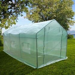 15x7x7 Walk In Greenhouse Large Garden Hot Green House Plant Gardening Canopy