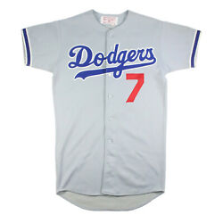 1970and039s Steve Yeager Game Used Los Angeles Dodgers Vintage Road Jersey 1981 Champ