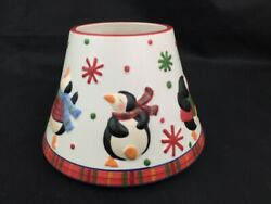 Large Yankee Jar Candle Dancing Penquin Party Shade Retired Rare