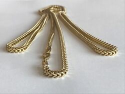 10k Yellow Gold 3.5 Mm Franco Chain Size 40 Inch Solid Gold 25.9