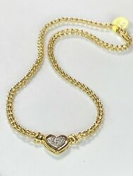 14k Gold And 0.50ct Diamond Chain Necklace Ladies Women Teen 16 -17 Inch