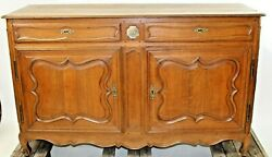 Antique French Provincial Oak Sideboard Buffet Chest Cabinet Farmhouse Server