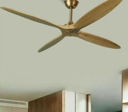 Solid Wood Ceiling Fan Remote Control On/off Switch Dc Motor Rotating Blades New