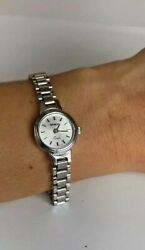 Geneve 14k Italy White Gold All Solid Gold Ladies Women Watch - Bracelet