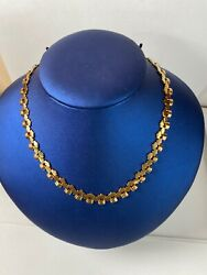 14k Yellow Gold Chain Necklace Ladies Women Teen 18and039and039 Inch