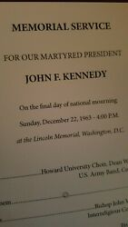 John Fitzgerald Kennedy Memorial Service From The Lincoln Memorial Washington Dc