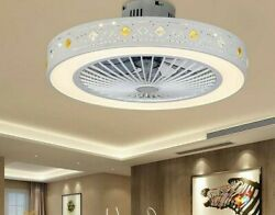 Fashionable Minimalist Ceiling Fan With Dimmable Invisible Light Indoor Luxuries