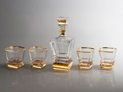 Set For Whiskey Sigmund Freud Crystal Decanter Glass 800ml 300ml 4pcs Russian...
