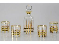 A Set Of Positive Solution To Crystal Decanter Glass 750ml 300ml 4pcs Russian...