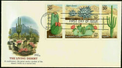 1945a 20c Stamp Set 1981 Desert Cactus Plants Fdc By Fleetwood