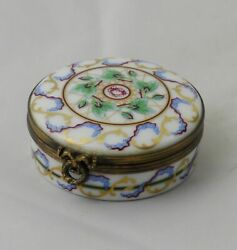 Eximious Castel Limoges Hand Painted Trinket Box France