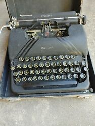 Vintage Corona Sterling Typewriter W/case And Key Buttons Clean Restore Reuse Nice