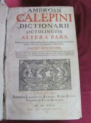 1681 Antique Dictionary V.2 Latin Hebrew Greek Old French English And Others V.rar