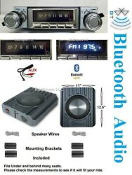 1975-1979 Ford Truck Bluetooth Stereo And 200 Watt Speakers 740