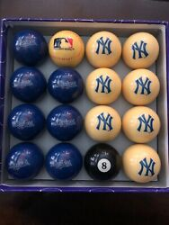 Dodgers Yankees Mlb Pool Ball Set Extremely Rare