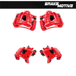 Front And Rear Coated Brake Calipers For 2003 2004 2005 2006 2007 Jeep Liberty