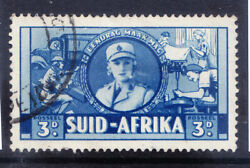 South Africa 1941 Sg91a 3d Variety Cigarette Flaw Fine Used Single Cat Andpound225 Pair