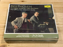 Beethoven Works For Cello And Piano Fournier Gulda Dgg 2 Cd + Blu-ray Audio Sealed