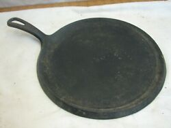 Vintage Griswold No 9 Cast Iron Round Handle Pancake Griddle Pan Small Logo 609